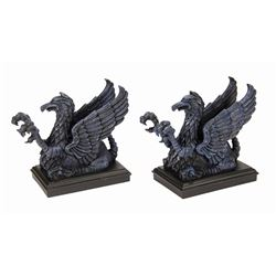 Pair of Haunted Mansion Griffin Bookends.