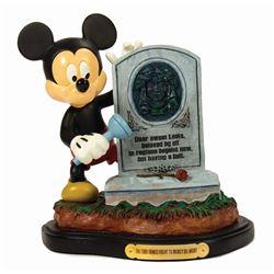 Haunted Mansion Happy Haunts Mickey Figure.