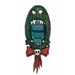 Haunted Mansion Holiday Wreath Plaque.