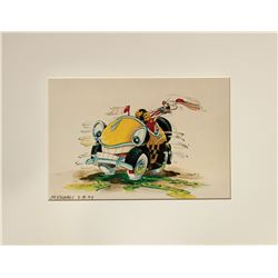 Signed Roger Rabbit's Car Toon Spin Concept Art Print.