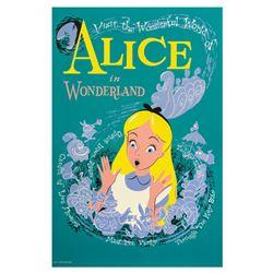 Alice in Wonderland Attraction Poster.