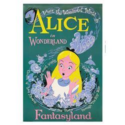 Alice in Wonderland Disney Gallery Attraction Poster.