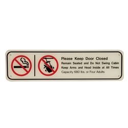 Skyway Vehicle Safety Sign.