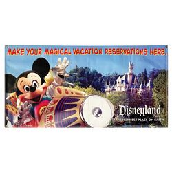 Disneyland Mickey Mouse Astro Orbiter Banner.