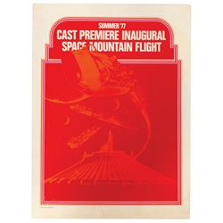 Space Mountain Cast Member Packet.