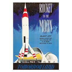Rocket to the Moon Disney Gallery Attraction Poster.