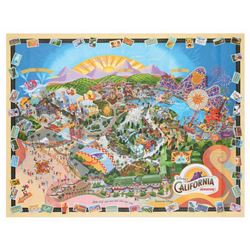 California Adventure Opening Day Souvenir Map.