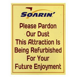 Soarin' Refurbishment Sign.