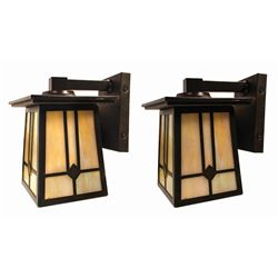 Pair of Grand Californian Hotel Vanity Lights.
