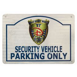 Walt Disney World Security Parking Sign.
