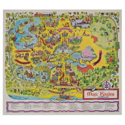 1971 Magic Kingdom Souvenir Map.