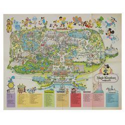 1979 Magic Kingdom Souvenir Map.