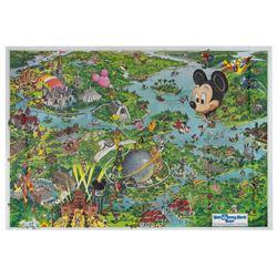 1992 Walt Disney World Resort Souvenir Map.