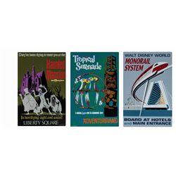 Set of (3) Walt Disney World Attraction Signs.