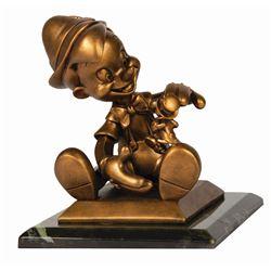 Pinocchio Bronze Statue.