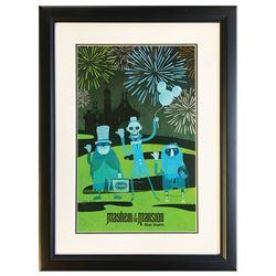 """Walt Disney World """"Mayhem at the Mansion"""" Print."""