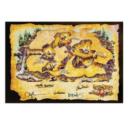 Seven Dwarfs Mine Train Signed D23 Print.