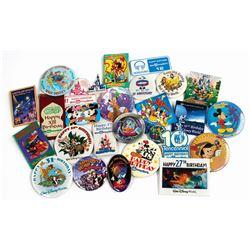 Set of (26) Walt Disney World Anniversary Buttons.