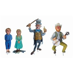 Set of (4) Western River Expedition Character Models.