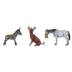Set of (3) Western River Expedition Animal Models.