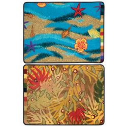 Pair of Art of Animation Carpet Concept Samples.
