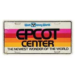 Epcot Center First Year License Plate.