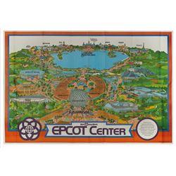 1982 Epcot Center Souvenir Map.
