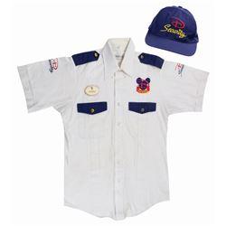 Epcot Security Cast Member Uniform Shirt and Hat.