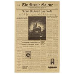 Tower of Terror Grand Dedication Ceremony Newspaper.