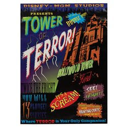 Tower of Terror B Movie Style Poster.