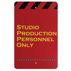 Studio Production Personnel Only Sign.