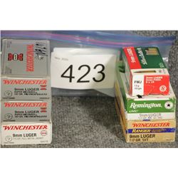 9mm. Assorted Ammo