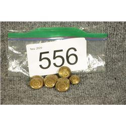 Assorted Brass Buttons