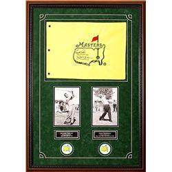 Arnold Palmer and Jack Nicklaus Masters Flag -- Autographed and Inscribed