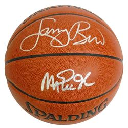 Larry Bird & Magic Johnson Boston Celtics/LA Lakers Dual Autographed Basketball