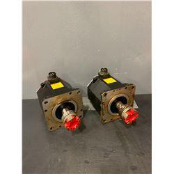 (2) - FANUC A06B-0266-B100#0100 A860-2000-T231 AC SERVO MOTORS