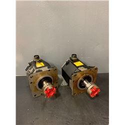 (2) - FANUC A06B-0266-B100#0100 A860-2000-T321 AC SERVO MOTORS