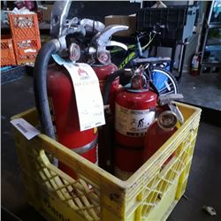 Crate of fire extinguishers