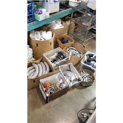 LARGE LOT OF PLUMBING SUPPLIES, CONDUIT, PIPES