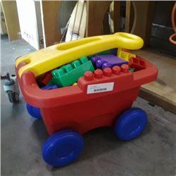 Mega blocks in wagon