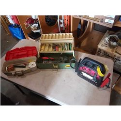 2 TACKLEBOXES WITH CONTENTS AND CHARGER