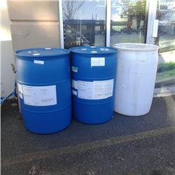 3 plastic drums 45 gallon