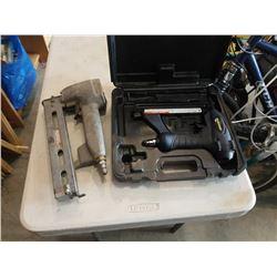 CASED MASTERCRAFT BRAD NAILER/STAPLER AND VINTAGE BOSTITCH GUN