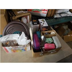 2 boxes of child guard, furnature feet, water filters and more