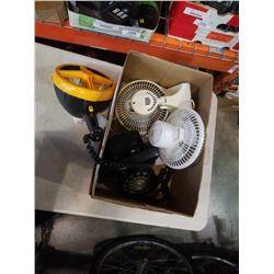 Vintage rotary phone, 2 fans and 12v spotlight