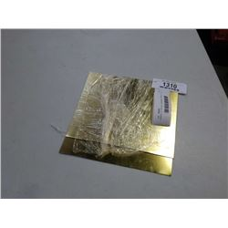 BRASS, 22 GAUGE, SHEARED PIECES - 7 X 7 INCH AND 7 X 6 INCH