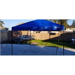 As new Ozark Trail blue 10 by 10 pop up canopy