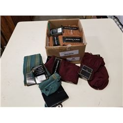BOX OF NEW DRESS SOCKS SIZE MENS 10-13