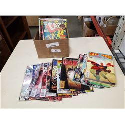 Box of marvel and DC comics