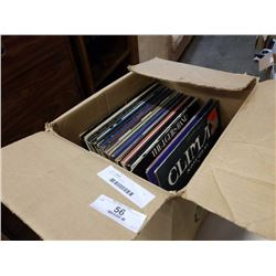 Box of various records